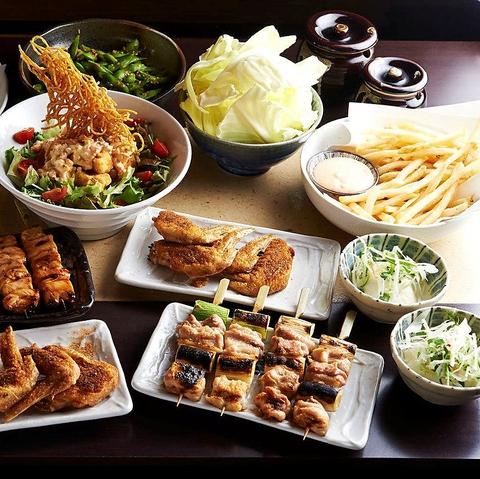 川崎の焼き鳥が美味しい居酒屋[とりいちず]の女子会コース