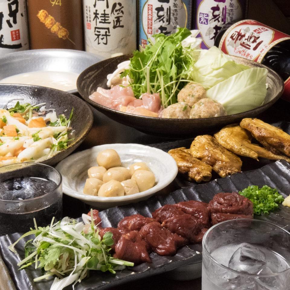 とりいちず酒場 川崎仲見世通り店の鶏料理もお酒もしっかり楽しめるコース